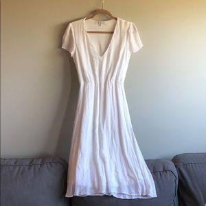 Whimsical white Knee length dress